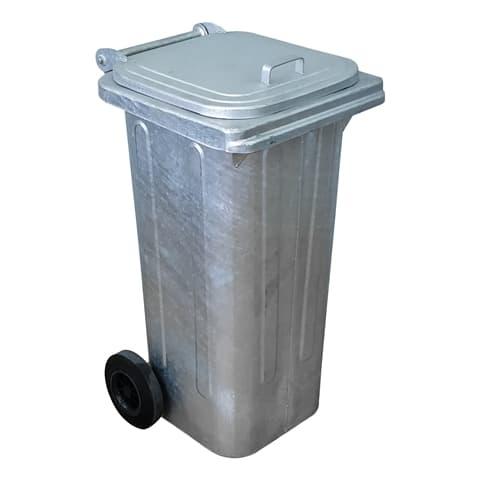 Μεταλλικός Κάδος Απορριμμάτων/Σκουπιδιών/Ανακύκλωσης 120 λίτρων
